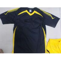 Quality Customized S 100% polyester Soccer Team Apparel Black Soccer t Shirts for sale