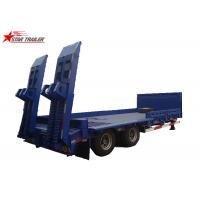 Quality 2/3/4/ Axles Hydraulic Low Bed Semi Trailer 40-100 Tons Gooseneck Type for sale