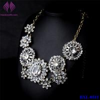Buy cheap Hot Fashion Retro Luxury Womens Clear Crystal Flower Choker Bib Necklace from wholesalers