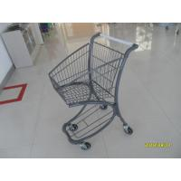 Quality 40L Steel Tube Airport Supermarket Shopping Trolley With Advertisement Board for sale