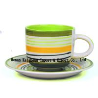 Quality hand painted 330cc ceramic cup &saucer/tea cup and saucer and tea cups cheap for sale