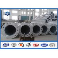 Quality Conical / Round 10M swaged type Steel Tubular Pole For 110kv Power Distribution Line for sale