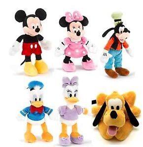 22cm Original Full Set Disney Plush Toys Disney Family Stuffed Animals