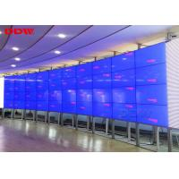 China 55 inch LED curved videowall Samsung lcd display wall 3.5mm super narrow bezel 1080p resolution on sale