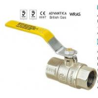 China Forged Brass Gas Ball Valve,Yellow Steel Lever Handle on sale