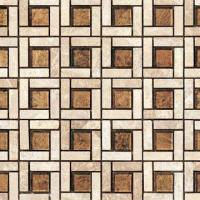 Quality Crystal and Stone Glass Mosaic Tile, Glass Mix Natural Stone, Thickness of 8, 6, 4mm for sale