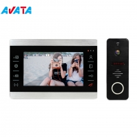Quality Metal Case Touch Button 7inch Video Door Phone Intercom with Picture Memory for sale