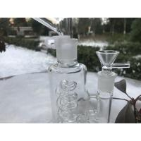 Detachable Mouth  Glass Bong Filter 6 Inches  , Clear 14mm Femle Glass Smoking Pipe