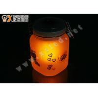 China Europe LED Orange & Blue Solar sun and moon Jars night lights with hand painting on sale