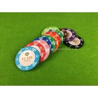 Quality Customized Clay Composite Casino Poker Chips 40mm / 43mm / 45mm for sale