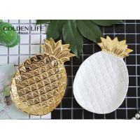 Quality Ceramic Pineapple Leaf Shape Jewelry Dish Household Decoration Plate Porcelain for sale