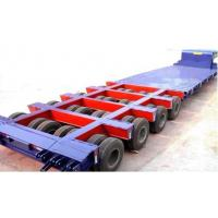 China 150 Ton 4 lines 8 axles lowboy Heavy Haul Trailers for Heavy construction machines on sale