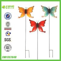 Quality Metal Decorative Yard Stakes Garden Ornament Butterflies for sale
