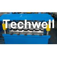 Quality Metal Roof IBR Sheeting Roll Forming Machine For 0.3 - 0.8mm Material Thickness for sale