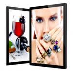 Quality Aluminum Ultra Slim LED Light Box Edge Lit Metal Profile Magnetic With Laser Engraved LGP for sale
