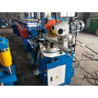 Quality Gear Box Drive Round Water Pipe Forming Machine Locked Metal Gutter Making Machine for sale