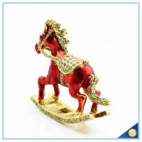 Quality Enamel Metal Trojan Shape Trinket Box Animal Series Rhinestone Jewelry Box SCJ730 for sale