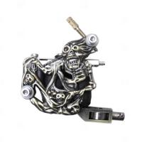 Quality Copper Carved 10 coil empaistic tattoo machine for shader for sale