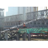 Quality HD200 Double Row Deck Type Modular Steel Bailey Bridge Hoisting Installation in Site for sale