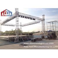 Buy Light Duty Stage Light Truss , Spigot Overhead Square Truss System 400 X 60mm Size at wholesale prices