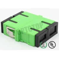 Buy Plastic Single Mode Fiber Optic Cable Adapter With Shutter , No Flange at wholesale prices