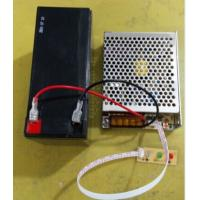 Aluminum case sliver 12v 3a 5a 10A power supply with back up battery charger for