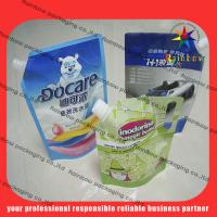 Quality lovely detergent spout pouch packaging with hang hole for sale