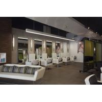 China Modern Classic Leather Sofa and Upholstery Chair for Hair salon Furniture in waiting aera room inetrior on sale