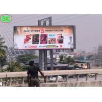 Quality p10 led full color outdoor led video panel display signs novastar for sale