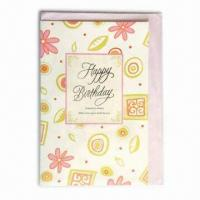 Quality Happy Birthday Card in Delicate Design, Ideal for Holiday Cards for sale