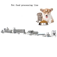 Quality Single Phase Extruded 80KVA Dog Food Processing Line for sale