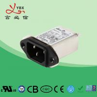 Quality 250V, 10A Single Phase IEC inlet socket Power entry Filter , Power Line EMI Filter Long Working Life for sale