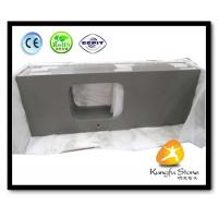 China Xiamen Kungfu Stone Ltd supply Fine Grey Quartz Countertops  In High quality and cheap price on sale