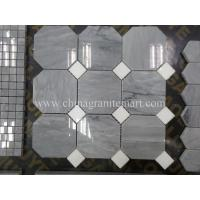 Quality Grey Marble Mosaic,Herribone Mosaice,Hexagon Mosaic,Basket Wave Design Mosaic for sale