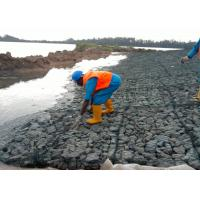 Quality Flood Control PVC Coated River Control Gabion Basket , Wire Basket Stone Wall for sale