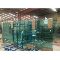 Quality 8mm/10mm/12mm Thick Tempered Safety Glass Door with Grooves / Holes for sale