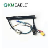 Quality 2.7m - 3.5 Meters 4 Core Coiled Cable , 0.25 Sq Mm Flexible Control Cable for sale