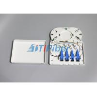 Quality 4 Port SC FC ST LC Indoor Fiber Optic Termination Box For FTTD Network for sale