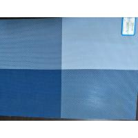 China Blue color Eco-Friendly TEXTILENE PVC coated fabric Table mats placemat 45*30 cm Washable on sale
