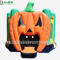Quality Halloween Inflatables Giant Pumpkin Kids Bounce House Double / Quadruple Stitching for sale
