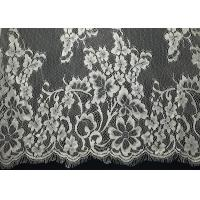 """Quality French Non Stretch 60"""" Eyelash Decorative Lace Trim White Lady Top Floral Pattern for sale"""