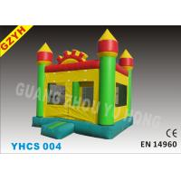 China 0.55mm Two PVC Coated Inflatable Bouncy Castle YHCS 004 with Strong Net Fabric Inside on sale