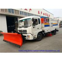Quality Multifunction Street Washing Truck With Hydraulic Scissor Manlift / Shovel Brushes for sale