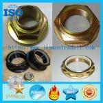 Quality Hex Flange Type Lock Nut,Hexagonal flange nut,hex flange nylon lock nut,blue white zinc hex flange nut,nylon lock nut for sale