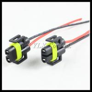 Quality Led H8 H9 socket LED bulb holder LED H11 H8 bulb extension socket wire cables connector for sale