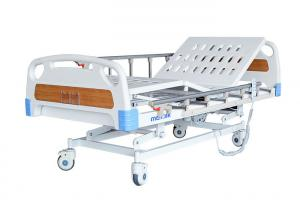 China 3 Function Folding Semi Fowler Medical Bed , Ward / ICU Bed For Patient on sale