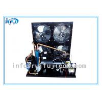 China Water Cooling Refrigeration Condensing Units , Horizontal cold room condensing unit Black R22  4-30HP on sale