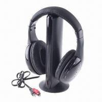 Quality 5-in-1 Hifi Wireless Headphones for MP4/PC/TV Audio, Wireless Monitor FM Radio for sale