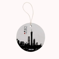 China Hanging Round Car Paper Air Freshener Scented Card Package on sale