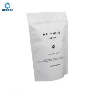 China Aluminum Foil Ziplock 180 Micron Flat Bottom Coffee Bags on sale